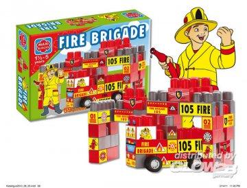 Maxi Blocks Feuerwehr 59St. 50x37x10 cm · G2B 0128 ·  Glow2B Spielwaren