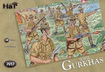 Britische Gurkhas · HAT 7017 ·  HäT Industrie · 1:72