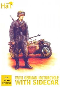 WWII German Motorcycle with Sidecar · HAT 8126 ·  HäT Industrie · 1:72