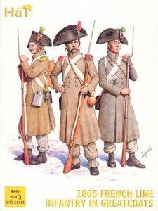 1805 French Line Infantry in Greatcoats / Französische Infanterie in Übermänteln · HAT 8146 ·  HäT Industrie · 1:72