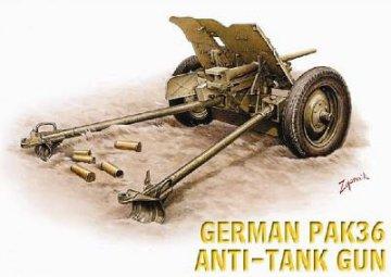 German Pak 36 37 mm Anti-Tank Gun · HAT 8149 ·  HäT Industrie · 1:72