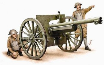 WWI US Artillery with 75mm Cannon / 1. WK. US Artillerie mit 75mm Kanone · HAT 8158 ·  HäT Industrie · 1:72