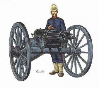 Gatling Gun · HAT 8179 ·  HäT Industrie · 1:72
