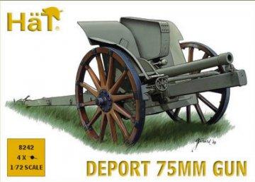 WWI Italian 75mm Deport Gun · HAT 8242 ·  HäT Industrie · 1:72