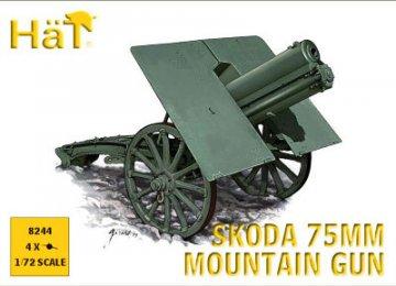 WWI Austrian Skoda 75mm Mountain Gun · HAT 8244 ·  HäT Industrie · 1:72