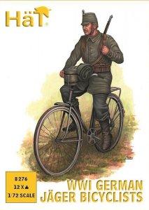 WWI deutsche Feldjäger auf Fahrrad · HAT 8276 ·  HäT Industrie · 1:72