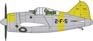 F2A-1/2 Buffalo U.S. Navy Combo (2 Kits/Box) · HG 600968 ·  Hasegawa · 1:72