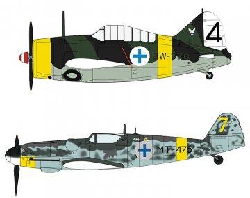 B239 Buffalo & Messerschmitt Me BF109 G6 - Finish airforce · HG 602279 ·  Hasegawa · 1:72