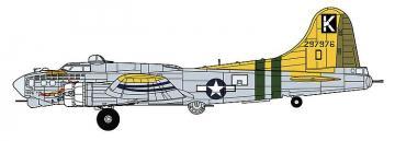 B-17G Flying Fortress A bit of lace · HG 602324 ·  Hasegawa · 1:72