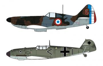 Dewoitine D520 & Messerschmitt Me BF109 E - Battle of France · HG 602332 ·  Hasegawa · 1:72