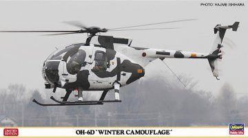 OH-6D, Winter-Tarnung · HG 607460 ·  Hasegawa · 1:48