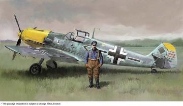 Messerschmitt BF109E-4/N Galland mit Figur · HG 607500 ·  Hasegawa · 1:48