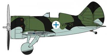Polikarpov I-16, Finish Air Force · HG 608254 ·  Hasegawa · 1:32