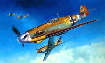Messerschmitt Me109F 4 Trop. Pilot: Hans J. Marseille · HG 608881 ·  Hasegawa · 1:32