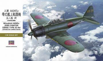 Mitsubishi A6M5c Zero Fighter (Zeke) Type 52 Hei · HG 608884 ·  Hasegawa · 1:32