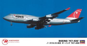 B747-400 Nortwest Airlines · HG 610834 ·  Hasegawa · 1:200