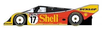 Shell Porsche 962C · HG 620337 ·  Hasegawa · 1:24
