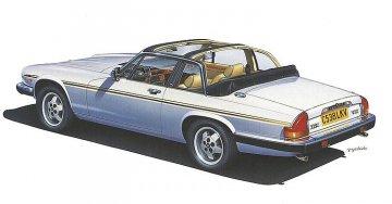 Jaguar XJ-SC V12 Cabrio. · HG 620352 ·  Hasegawa · 1:24