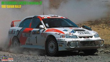 Mitsubishi Lancer Evo IV,1997 Safari Rally · HG 620395 ·  Hasegawa · 1:24
