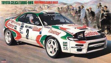Toyota Celica Turbo 4WD,1993 Monte Carlo Rally · HG 620401 ·  Hasegawa · 1:24