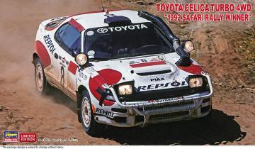 Toyota Celica Turbo 4WD, 1992 Safary Rally Winner · HG 620434 ·  Hasegawa · 1:24