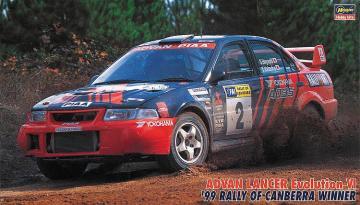 Advan Lancer Evo VI, 1999 Canberra Rally · HG 620443 ·  Hasegawa · 1:24