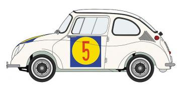 Subaru 360, 1963 1st Japan GP CI Class · HG 620465 ·  Hasegawa · 1:24