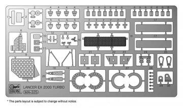Mitsubishi Lancer EX - Detail up Etching parts · HG 620469 ·  Hasegawa · 1:24