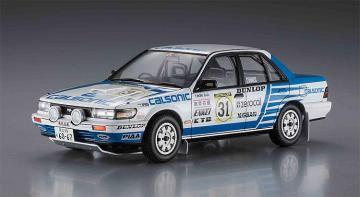 Nissan Bluebird 4-door Sedan, 1988 Japan Rally · HG 620470 ·  Hasegawa · 1:24