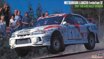 Mitsubishi Lancer Evo IV,Finnland Rally 1997 · HG 620480 ·  Hasegawa · 1:24
