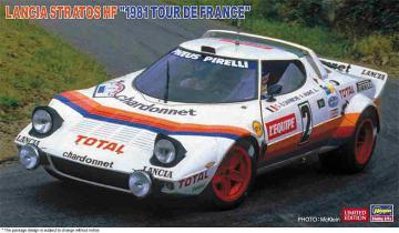 Lancia Stratos HF, 1981 Tour de France · HG 620499 ·  Hasegawa · 1:24