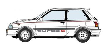 Toyota Starlet EP71 Turbo S, 3-Türer · HG 620508 ·  Hasegawa · 1:24