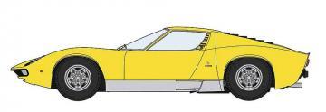 Lamborghini Miura P400 SV, detail version, yellow body · HG 620511 ·  Hasegawa · 1:24