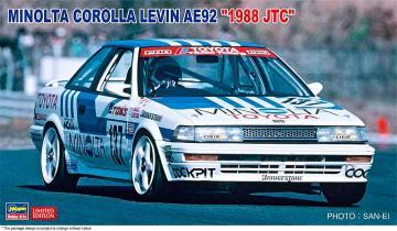 Minolta Corolla Levin AE92 1988 JTC · HG 620515 ·  Hasegawa · 1:24