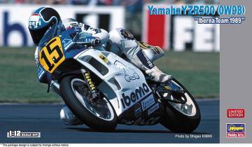 Yamaha YZR500 0W98, Iberna Team 1989 · HG 621724 ·  Hasegawa · 1:12