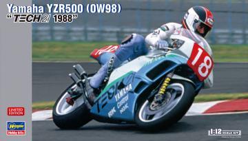 Yamaha YZR500 0W98, Tech 21 1988 · HG 621727 ·  Hasegawa · 1:12