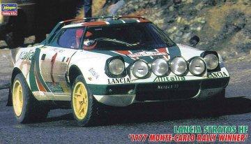 Lancia Stratos HF, 1977 Monte Carlo · HG 625232 ·  Hasegawa · 1:24