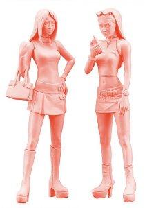 Platform boots girls, 2 Figuren · HG 629102 ·  Hasegawa · 1:24