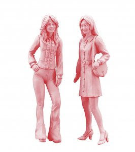70´s Girls Figure (2 Figuren) · HG 629106 ·  Hasegawa · 1:24