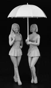 PADDOCK Girls Figure, 2 Stück · HG 629109 ·  Hasegawa · 1:24