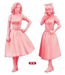 US-Girls im Stil der 50er Jahre, 2 Stück · HG 629110 ·  Hasegawa · 1:24