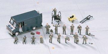 US Pilot & Ground Crew Set · HG 635007 ·  Hasegawa · 1:72
