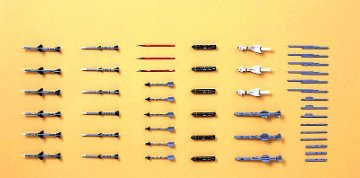 Aircraft Weapons: V US Missiles/Launcher-Set · HG 635009 ·  Hasegawa · 1:72