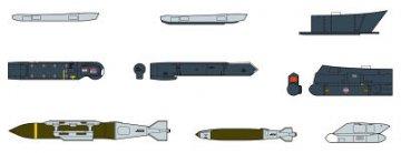 Aircraft Weapons IX. Bewaffnung für moderne US-Flugzeuge. · HG 635114 ·  Hasegawa · 1:72