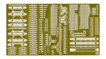 Detail Up Etching Parts Super for IJN Aircraft Carrier Akagi. Teile für das Flugdeck, Metallplatte mit Schiffsname usw. · HG 640071 ·  Hasegawa · 1:350
