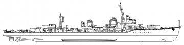 IJN Asashimo, Full Hull · HG 643175 ·  Hasegawa · 1:700