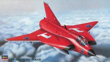 J-35F Draken, Red Dragon · HG 651461 ·  Hasegawa · 1:72