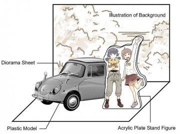 Subaru 360 deluxe, Zessyaka! · HG 652181 ·  Hasegawa · 1:24