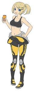 EGG Girls - Amy McDonnel - Biker Girl  · HG 652208 ·  Hasegawa · 1:12