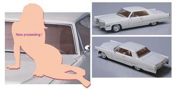 1966er Coupe mit Frau · HG 652232 ·  Hasegawa · 1:24
